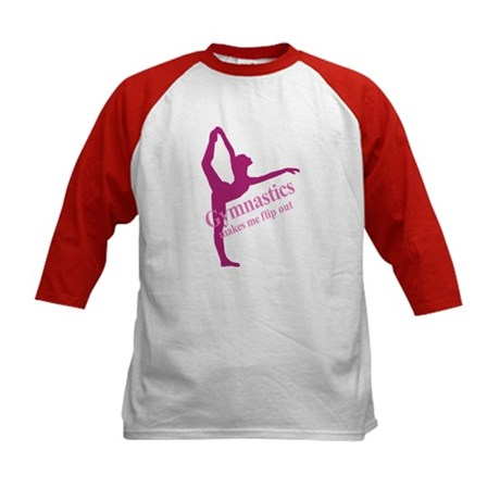 Gymnastics Makes Me Flip Out Kids Baseball Jersey