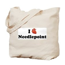 I (Heart) Needlepoint Tote Bag