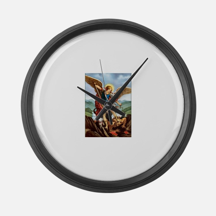 Saint Michael the Archangel Large Wall Clock