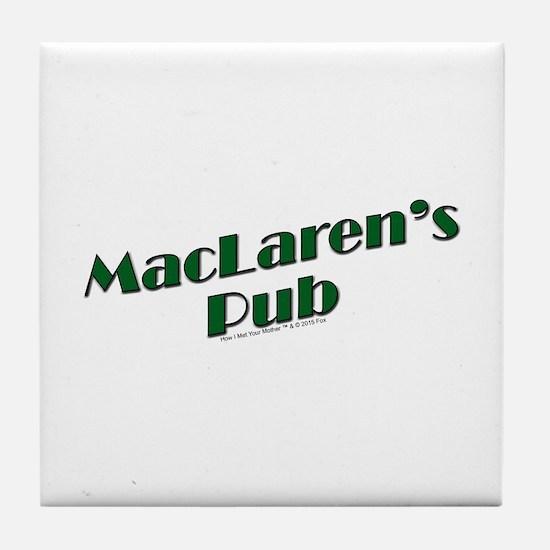 MacLaren's Pub Tile Coaster