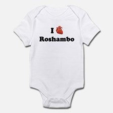 I (Heart) Roshambo Infant Bodysuit