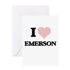 I love Emerson (heart made from wor Greeting Cards
