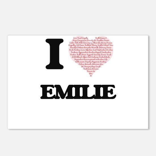 I love Emilie (heart made Postcards (Package of 8)