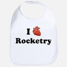 I (Heart) Rocketry Bib