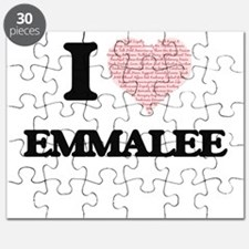 I love Emmalee (heart made from words) desi Puzzle