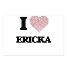 I love Ericka (heart made Postcards (Package of 8)
