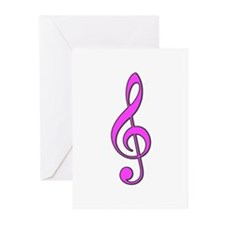 Pink Musical Love Greeting Cards (Pk of 10)
