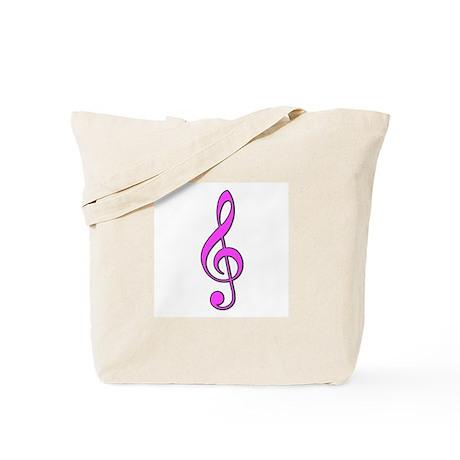 Pink Musical Love Tote Bag