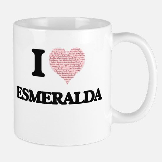 I love Esmeralda (heart made from words) desi Mugs