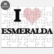 I love Esmeralda (heart made from words) de Puzzle