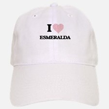 I love Esmeralda (heart made from words) desig Baseball Baseball Cap