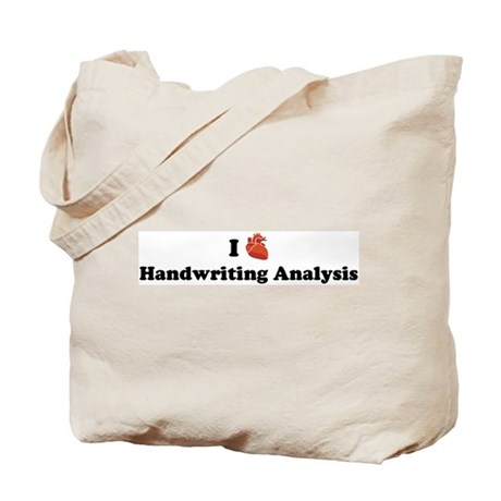 I (Heart) Handwriting Analysi Tote Bag
