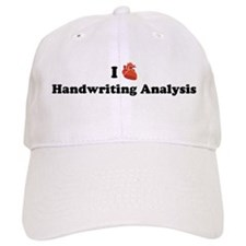 I (Heart) Handwriting Analysi Baseball Cap