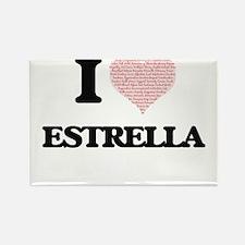I love Estrella (heart made from words) de Magnets