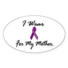I Wear Purple 1 (Mother PC) Oval Decal