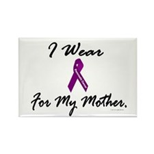 I Wear Purple 1 (Mother PC) Rectangle Magnet