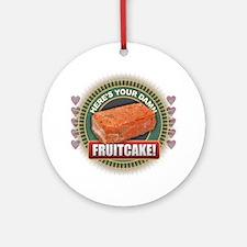 Cute Fruitcake Round Ornament