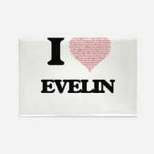 I love Evelin (heart made from words) desi Magnets