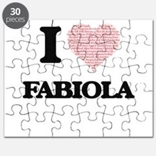 I love Fabiola (heart made from words) desi Puzzle
