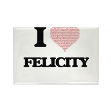 I love Felicity (heart made from words) de Magnets