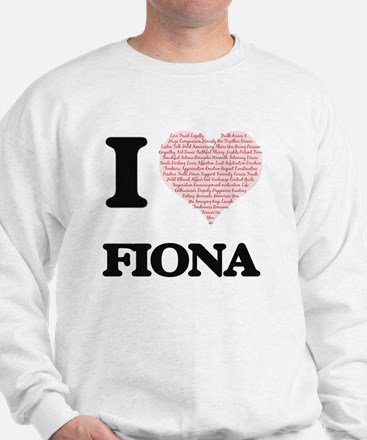 I love Fiona (heart made from words) de Sweater