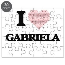 I love Gabriela (heart made from words) des Puzzle