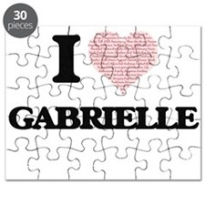 I love Gabrielle (heart made from words) de Puzzle