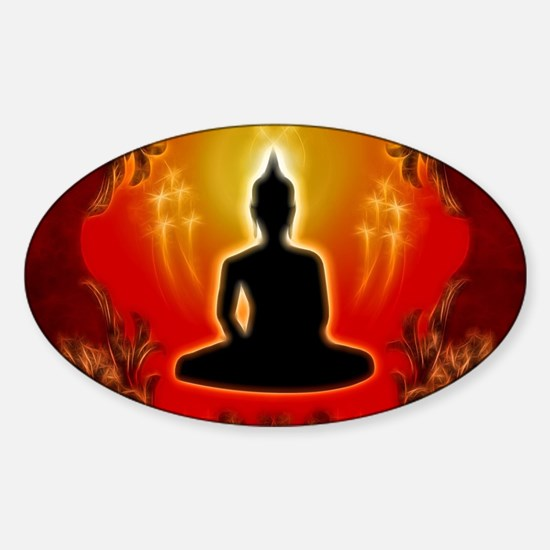 Buddha in the sunset Decal