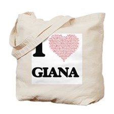 I love Giana (heart made from words) desi Tote Bag