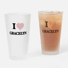I love Gracelyn (heart made from wo Drinking Glass