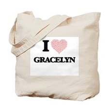 I love Gracelyn (heart made from words) d Tote Bag