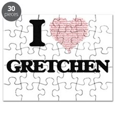 I love Gretchen (heart made from words) des Puzzle