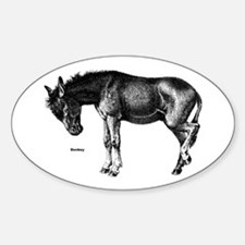 Donkey Oval Decal