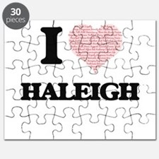 I love Haleigh (heart made from words) desi Puzzle