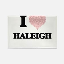 I love Haleigh (heart made from words) des Magnets