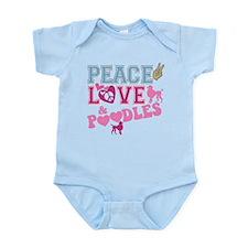 Peace Love and POODLES! Infant Bodysuit