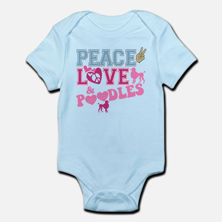 Peace Love and POODLES! Infant Bodysuit