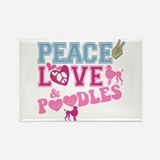 Peace Love and POODLES! Rectangle Magnet