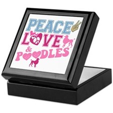 Peace Love and POODLES! Keepsake Box