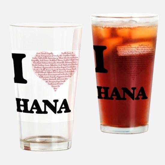 Funny Hana Drinking Glass