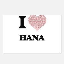 I love Hana (heart made f Postcards (Package of 8)