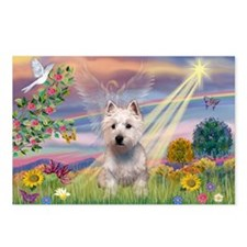Cloud Angel West Highland Ter Postcards (Package o