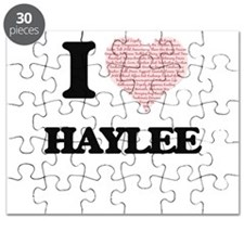 I love Haylee (heart made from words) desig Puzzle