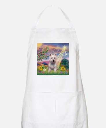 Cloud Angel West Highland Ter BBQ Apron