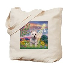 Cloud Angel West Highland Ter Tote Bag