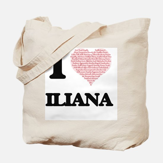 I love Iliana (heart made from words) des Tote Bag
