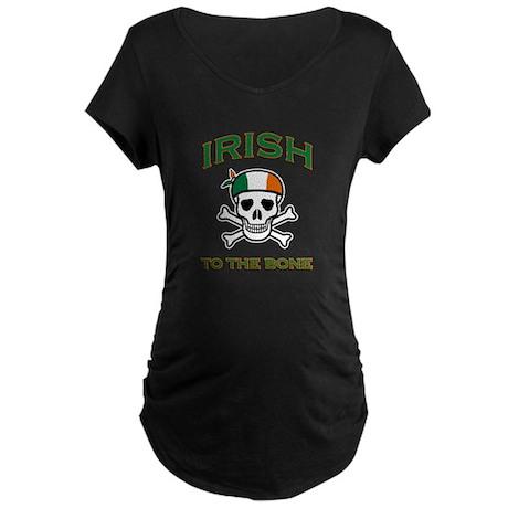 IRISH TO THE BONE Maternity Dark T-Shirt