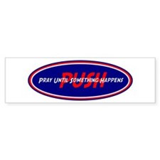 Red White Blue PUSH Bumper Bumper Sticker