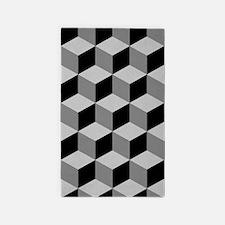 Cube Big Ptn Blk/greys Area Rug