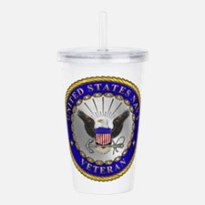 us_navy_v.png Acrylic Double-wall Tumbler